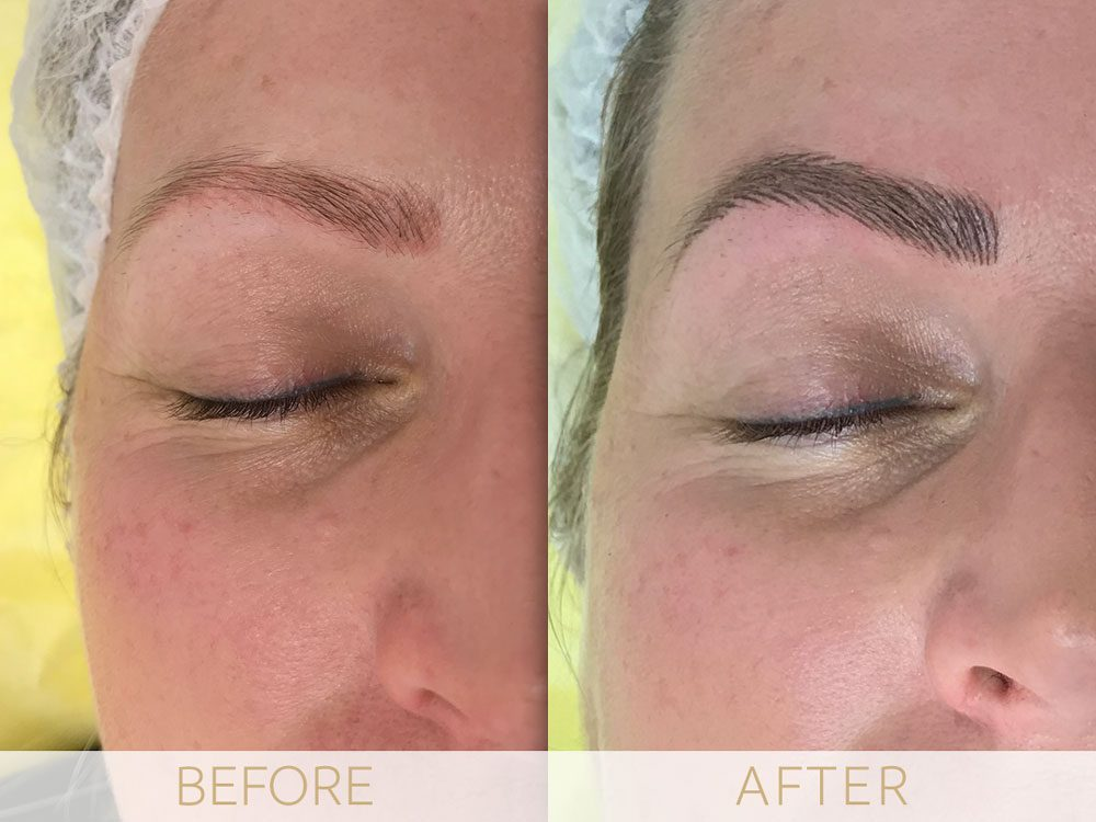 micropigmentation eyebrows before and after