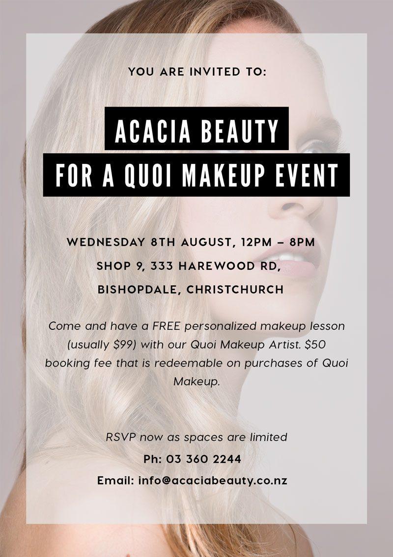 Quoi makeup event