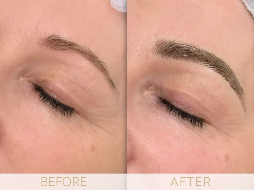 Microblading examples before & after