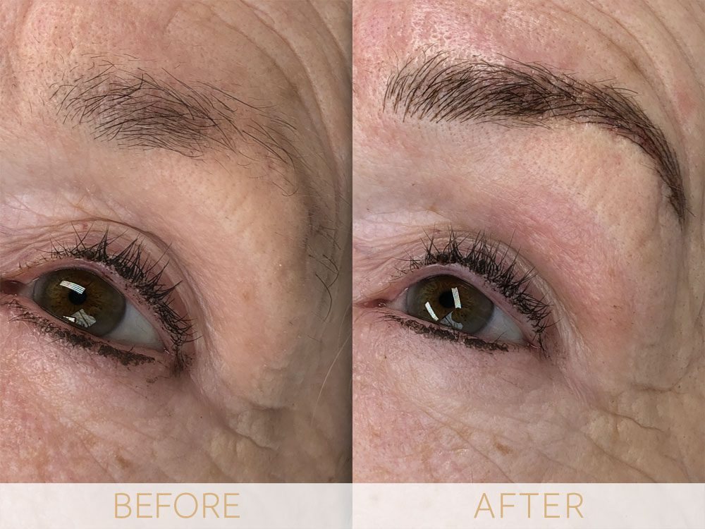 Before & After microblading eyebrows