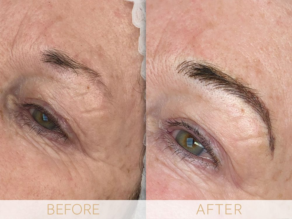 before and after microblading eyebrows